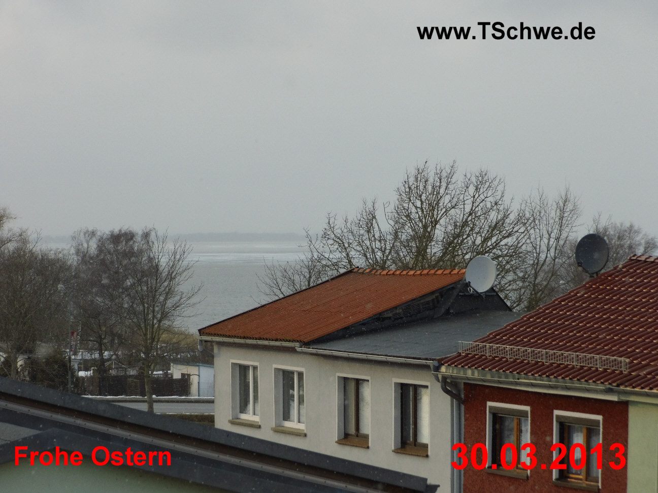 Blick von der Innenstadt auf den Ribnitzer Bodden